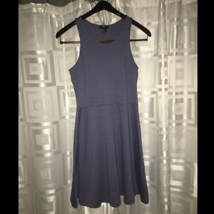 H&M blue grey fit & flare short dress - used